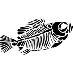Concrete Staining Template of Skeleton Fish (part #MISC-42)