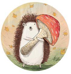 hedgehog illustration - Recherche Google                                                                                                                                                                                 More