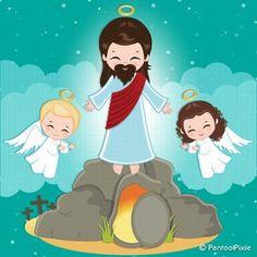 Jesus Resurrection clipart Christianity clipart Easter | Etsy