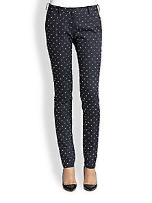 Faith Connexion - Studded Cotton Sateen Skinny Pants - Saks Fifth Avenue Mobile