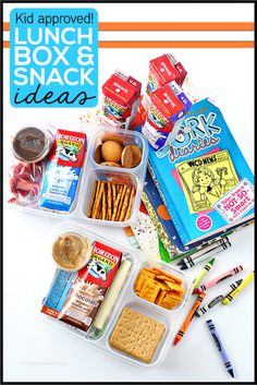 Kid approved lunch box and snack ideas