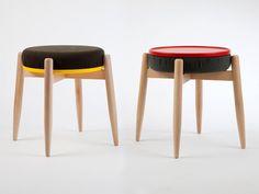 Taburete apilable de madera TREX - Miniforms