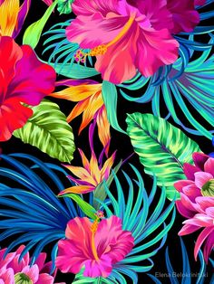 girly iphone wallpaper - Drive You Mad Hibiscus Pattern Graphic TShirt Tropical Wallpaper, Summer Wallpaper, Colorful Wallpaper, Flower Wallpaper, Screen Wallpaper, Pattern Wallpaper, Trendy Wallpaper, Cute Wallpapers, Phone Wallpapers