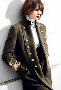 Military fashion I've not tried this but I love the contrast between soft and feminine and tough and militaristic. Source by rengintsey The post Military fashion appeared first on The Most Beautiful Shares. Military Trends, Military Chic, Military Looks, Military Style Jackets, Military Jacket Women, Military Inspired Fashion, Military Fashion, Military Outfits, Military Clothing