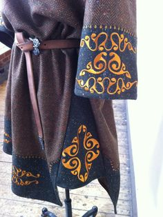 RESERVED - Darkage, Viking, Celtic, Norse, Pagan, Embroidered, Wool, Woolen Tunic Costume. $450.00, via Etsy.