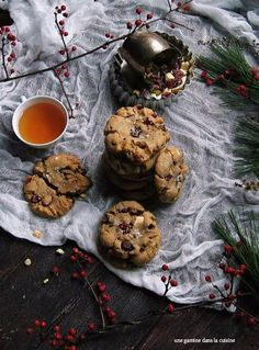 Hiddles darling holiday cookies; chewy brown butter cookies laced with cranberries, pistachios & white chocolate