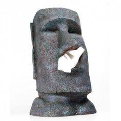 Der Moai Taschentuchspender ist ein stylisches Accessoire für jede Wohnung. Hol Dir die Osterinseln nach Hause. Ein originelles Geschenk für Globetrotter, Abenteurer, Wohnungsstylisten und auch für jede Büro- oder Praxiseinweihung.