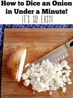 How to Dice an Onion in Under a Minute! Wow!!