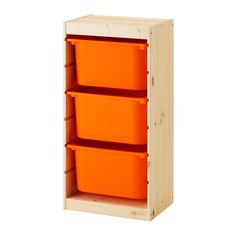 TROFAST Storage combination with boxes IKEA A playful and sturdy storage series for storing and organising toys.