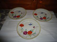 "Vintage Set of 6 Nippon Hand Painted Luncheon/Dessert Plates.  7.50"" Diameter #Nippon"