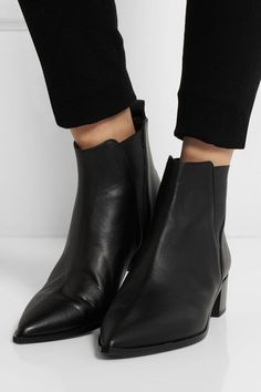 Leather kitten heel ankle boots | Printed | Smooth, The shape and ...