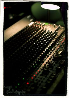 A sound board is the main thing you work with in a Music Studio.