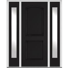 Milliken Millwork 68.5 in. x 81.75 in. 2 Panel Archtop Painted Fiberglass Smooth Exterior Door with Sidelites 2,189.00 at home depot