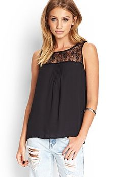Pleated Lace Top | Forever 21 - 2000062063