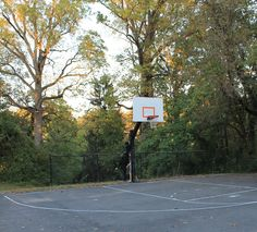 Basketball court in the park behind us.