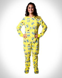 SpongeBob Footie Pajamas. Game #1 pjs contest.