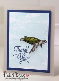 Control Freaks Convention Swap Cards - SU - From Land to Sea and Watercolor Wash stamp sets
