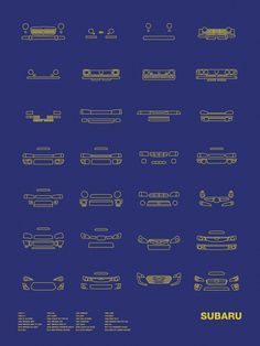 Auto Icon Screen Print Series: Subaru