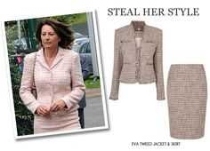 Carole Middleton – Steal Her Style wih the Eva Tweed Jacket and Skirt