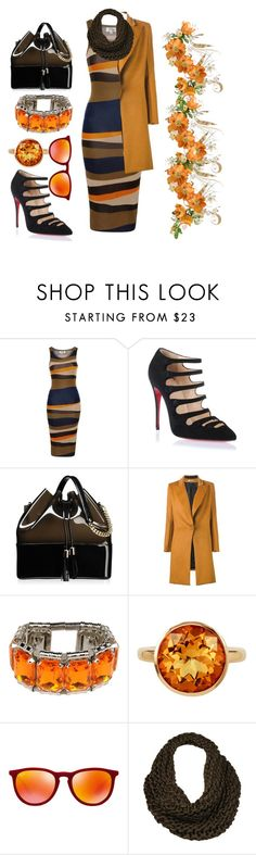 """Untitled #152"" by ghadamfh ❤ liked on Polyvore featuring Madam Rage, Christian Louboutin, Kartell, Bouchra Jarrar, Nanni, Plukka, Ray-Ban and Black Rivet"