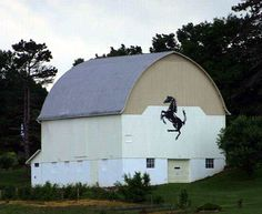 Barn in Wayne County, Ohio.   I wonder if there's a Ferrari parked inside!!