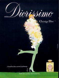 Parfums Christian Dior Diorissimo . 1979 - Illust.  René Gruau