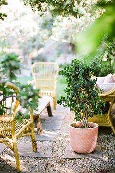 Garden Visit with Los Angeles Jeweler Kathleen Whitaker in Echo Park, Garden Seating Area | Gardenista