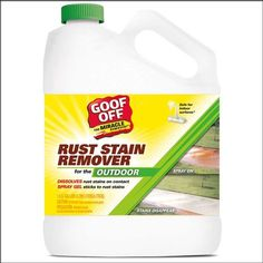 BEST PRODUCT EVER!  Love this stuff.  Removes the rust off of our vinyl siding like magic! No scrubbing.  Spray on and rinse off.