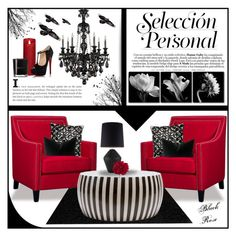 """""""The Raven"""" by sassyfashionista-101 ❤ liked on Polyvore featuring interior, interiors, interior design, home, home decor, interior decorating, nuLOOM, Elements, Bella Figura Lighting and Christian Louboutin"""