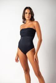 Maiô Faixa Macramê Preto – Falesia Carioca One Piece, Fitness, Swimwear, Fashion, Beachwear Fashion, Black, Bathing Suits, Moda, Swimsuits