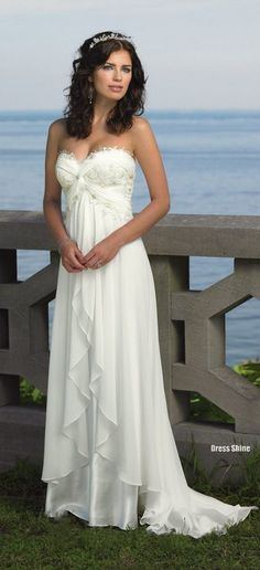 beach wedding dress beach wedding dress. Love it ;) I know you don't want this, but it is so pretty.