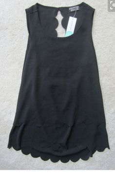 Black tank with cute detail. Stitch fix ideas. Try out stitch fix! So fun