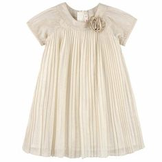 BILLIEBLUSH Golden pleated voile dress