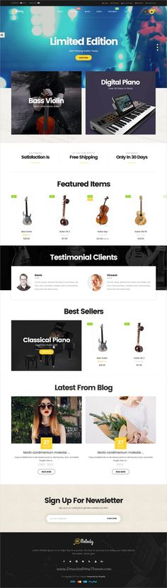 Ap Melody is a wonderful 4in1 responsive #Shopify theme for #music, musical #instrument products online shop eCommerce websites download now➩ https://themeforest.net/item/ap-melody-drag-and-drop-shopify-theme/19284403?ref=Datasata