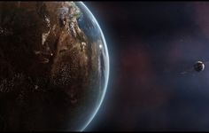 Wallpaper sci fi, planet, stars, shadows wallpapers space - download