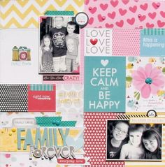 Bella Blvd Family Forever collection. Layout by DT member Nicole Nowosad