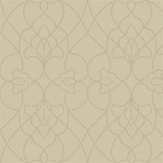 Beige Pirouette Textured Contemporary Wallpaper