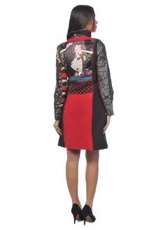 Якета в бохо стил - Desigual, Woman Geisha Red Coat
