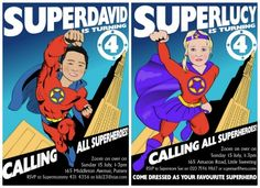 Personalized superhero invitations by Lucy Ford   Cool Mom Picks