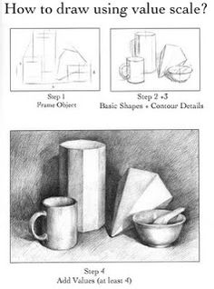 Value Scale for Drawing: Carol Sun Sketchbook: grade assignments Value Drawing, Basic Drawing, Drawing Skills, Drawing Lessons, Art Lessons, Teaching Drawing, Teaching Art, Classe D'art, Art Handouts
