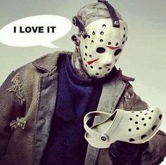 #jason #fridaythe13th #crocks #largeforfun