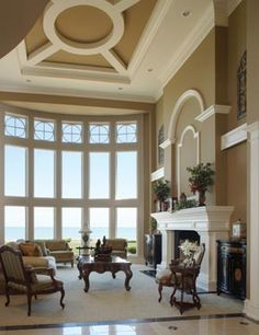 one idea for the family or parlor. very classic look with neutral color scheme. very cozy for the family