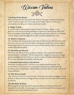 7 Wiccan Values Printable Page This printable grimoire page has the 7 principles on which most Wiccan traditions are based. Great for your Book of Shadows or to post it on your mirror, fridge or bedside table. Wiccan Books, Witchcraft Spell Books, Wicca Witchcraft, Wicca For Beginners, Witchcraft Spells For Beginners, Wiccan Magic, Wiccan Witch, Magic Spells, Real Spells