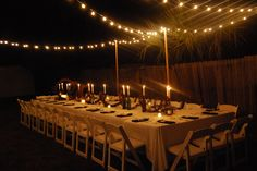 We absolutely love our backyard dinner party!