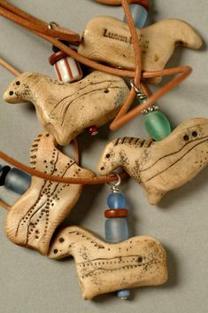 Luann Udell - Very Simple Ancient Horse Necklace - Mixed Materials