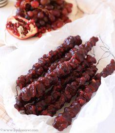 Helathy snacks // Churchkhela // Sund sød snack opskrift uden sukker, www.bydianawi.com