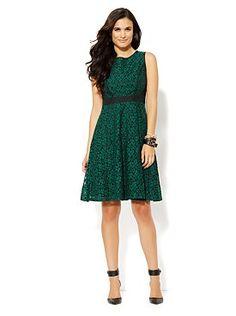 Fit & Flare Lace Dress | NY&C