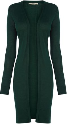 Womens pine green cardigan from Oasis - £25 at ClothingByColour.com
