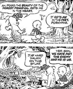 There is not a single Pogo pin on Pinterest. I'm a changing that! Another classic comic strip