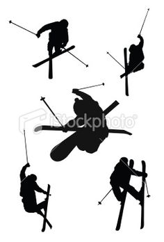 Extreme sports silhouette